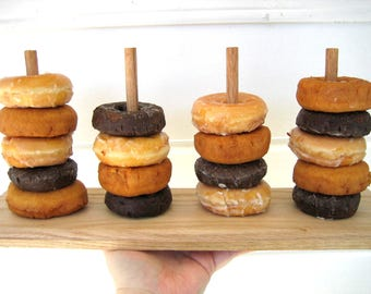 Donut Stand, Rustic Wood, Baby Shower Desserts, Wedding Decoration, Dessert Table, Bridal Brunch, Breakfast, Donut Party, Doughnut Stand