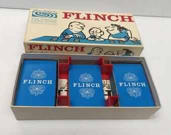 Vintage Parker Brothers Flinch card game 1963 Complete