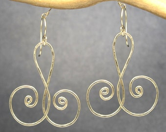 Hammered Curly Earrings Nouveau 161