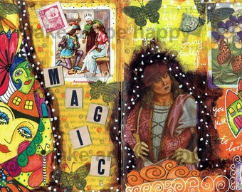 4 A4 collage sheets, journal pages, collage material, digital download, for direct use