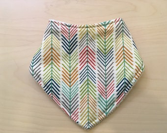 3 layer drool bib- bandana bib, love arrows