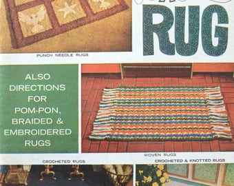 Vintage So You Want to Make a Rug Pattern Book No. 197 Woven Crochet Knotted Rugs PDF Download