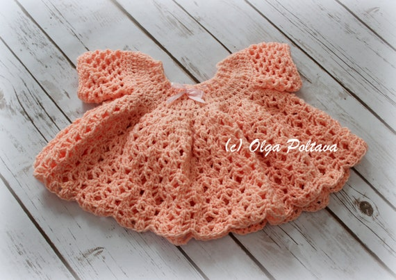 """Crochet Doll Dress Pattern, 18-20"""" Doll Dress Crochet Pattern"""