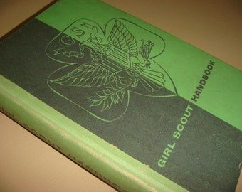 1954 Hardback Girl Scout Handbook Intermediate Program Tenderfoot Rank Arts Badges