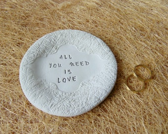 All You Need is Love Ring Dish, Wedding favors Ring Dish, Wedding  Dish Favors,