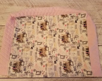 Sewing Machine Cover - Parisian - Shabby Chic