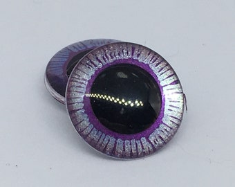 Blythe doll OOAK purple and lilac Handpainted enlarged pupil eyechips set. realistic, shining, unique, glowing, metallic