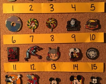 Create your own Disney pin set – individually priced (set AG)
