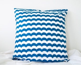 100% Cotton Navy Blue Scallop Euro Size Pillowcase