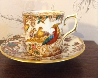 Royal Crown Derby Coffee Can Demitasse & Saucer Olde Avesbury Pattern