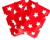 """50Pack -10x13"""" Christmas Stars FLAT POLY Mailers -Self-Sealing Poly Mailers USPS Approved Shipping Mailers"""