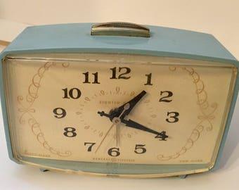 Powder blue Retro GE alarm clock! Perfect midcentury piece in a classic color.