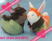 VALENTINE SALE Teeny OTP Any Bunny Pair