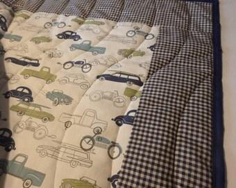 Vintage Cars Crib Quilt