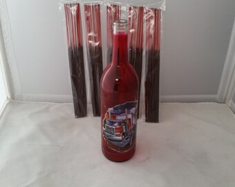 Glass bottle incense holder (Leader of the pack) w/ 100 incense