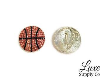 Basketball Rhinestones - Team Headbands - College Basketball - 23mm Slider - DIY Headbands, Crafts, Party Supplies - DIY Sports Headband