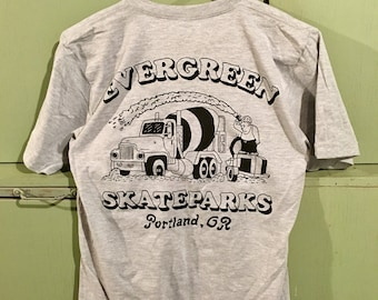Gray Concrete Truck American Apparel Pocket Tee
