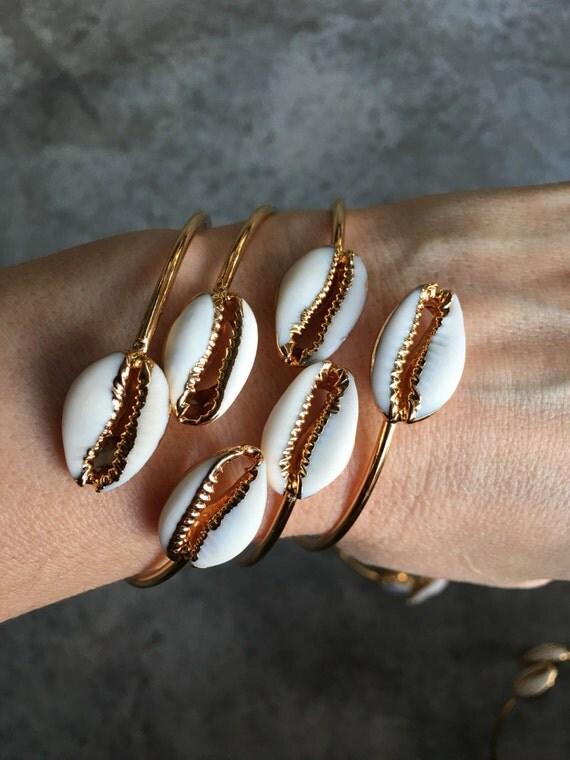 Shell Bracelets, Beach Jewelry, Boho jewelry