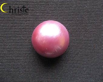 Red Mabe Pearl Cabochon - 18mm round (A)