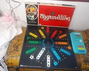 Deluxe Party Addition Aggravation Game, Milton Bradley 1970, Vintage Board Game, Marble Game, Family Game Night, Toys, Vintage Toys, s