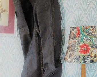 "40. Vintage EME Panderosa Jeans pants striped with tag, without buttons (W49-L113cm / W19.3-L44.5"")"