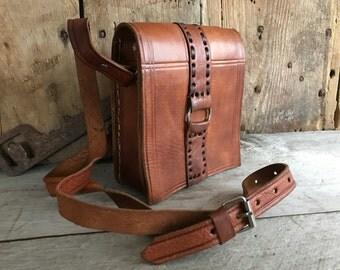 Rustic Small Leather Handbag, Crossbody, Satchel, Saddlebag