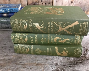 1902 The Haddon Hall Library London, by Alexander Innes Shand, Shooting, Rare Hardcover Book, Classic, Illustrations, Hunting Book
