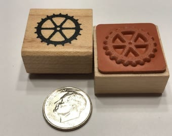 small clock wheel rubber stamp, 20 mm (BB4/2)