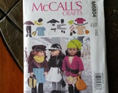 18 inch doll clothes pattern, McCall's M6804, Fits American Girl Doll, Next Generation Dolls