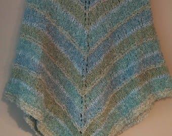 Boucle knit poncho