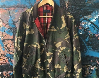 20 Vintage FRED PERRY The British Millerain Camo Camouflage Harrington Made in EnglandMods Paul weller Punk Rock Brits Trainer Track Jacket
