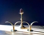 Reserved-- Ystad Metall Sweden Brass Candlesticks, Danish Modern, Deco, Mid Century Modern, Brass Candle Holders, Vintage Brass Candlesticks