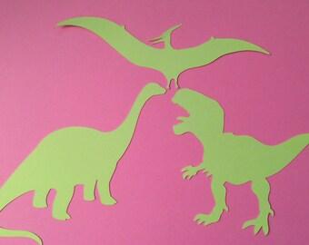 12 Die Cut Paper Dinosaurs