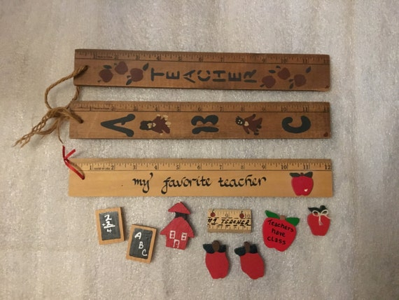 Wood crafts teacher themed pieces for craft