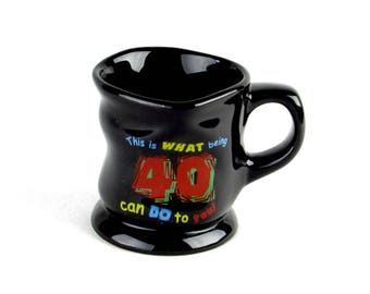 Coffee Mug - 40th Birthday - This is What 40 Can Do To YOu - Funny - Comical - Joke - Coffee Cup - Vintage Home Kitchen Decor