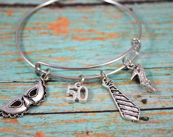 Erotic Bangle Bracelet ~ Themed Bangle Charm Bracelet
