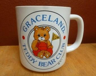 Elvis Graceland Teddy Bear Club mug