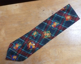 Garfield the Cat plaid necktie Paws Addiction