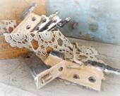 antique door hinges / victorian cast iron hardware / set of 4