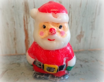 vintage santa claus candle / christmas candle / made in japan