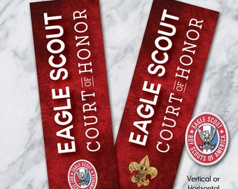 EagleScout Court-of-Honor BANNERS / Vertical or Horizontal  FORMAT / #EagleScout #TroopBanner #CourtofHonorBanner