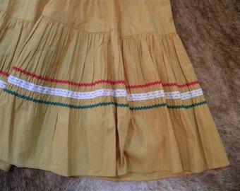 Vintage circle skirt, squaw skirt, cowgirl, hippie, boho, western, santa fe