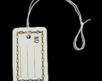 500 Tie-on Jewelry Display PRICE TAGS gold accent Label-F8