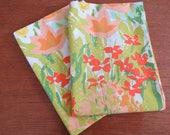"Vintage Pillowcase Pair - Bright Floral by Stevens Utica - 30"" x 20"" No Iron Percale"