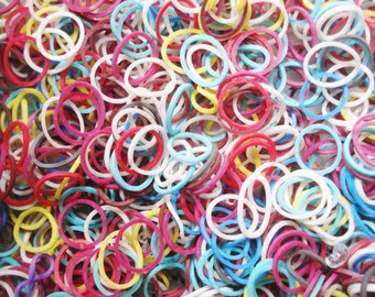 Rainbow Loom Bands - 4500+ Rainbow Rubber Bands and Clips - Kids Loom Bands -  Rubber Craft Bands - Assorted Loom Elastics