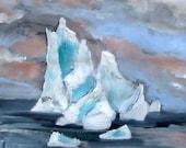 Iceberg Dark Sky- Original Acrylic Painting