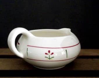 Vintage Small Ceramic Creamer, Mid-Century Cream Pitcher, Small White Vintage Creamer, Country Cottage Farmhouse Kitchen