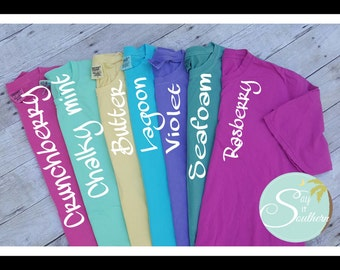 Monogram Comfort Color T-shirt*monogram shirt*Spring colors*comfort color monogram shirt