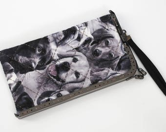 7'' kiss lock – Glasses Case or Cell Phone Case, Animal Kingdom, Dog Breeds