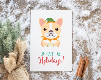 Meme Holiday Cards, French Bulldog Yass, Christmas Cards, greeting cards, funny cards, hipster xmas, christmas gift, personalized